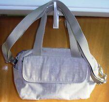 "KIPLING  NEW SILKY BEIGE ""Runeo""  Large Shoulder Bag with Detachable  Strap"