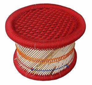 Rajasthan Handmade Caña Taburete De BAR / Poufs para Interior / y Muebles