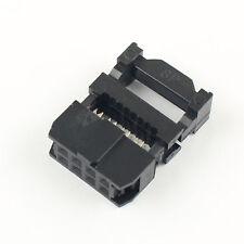 50pcs 254mm Pitch 2x4 Pin 8 Pin Idc Fc Female Header Socket Connector