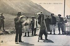 CPA en Savoie Alpes montreur d´ours chasseurs alpins Reynaud 1388