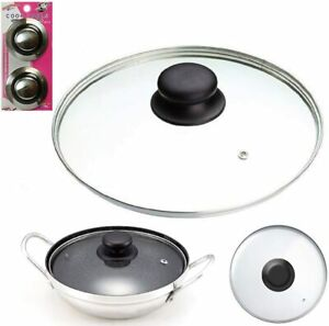 Replacement Vented Frying Pan Saucepan Casserole Wok Glass Lid Cover 14-36 cm