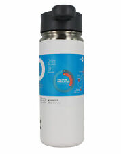 Go Bottle Vacuum Insulated Stainless Steel Hot & Cold Sipper Bottle 18 Oz, White