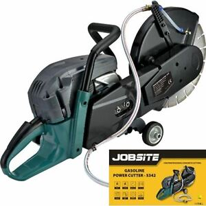 "Jobsite 2400W 300mm 2 Stroke Petrol Disc Power Stone Saw Concrete Cutter 12"""