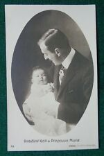 Antique Photographic Postcard Grand Duke Kirill Romanov Imperial Russia & Maria