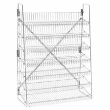 "Wire Candy Snack Rack, 7 Tier, 36"" Wide, Chrome, Free Stand or Mount"