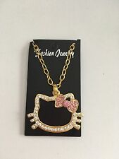 Hello Kitty Gold Tone Rhinestone Necklace