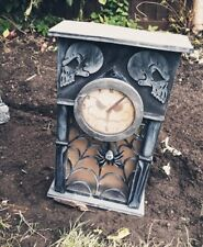 Animated Haunted Clock Wall Entrance Halloween Decoration Prop Noise Light Sound