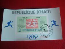 HAITI - 1969 OLYMPIC MARATHONS 4 - UNMOUNTED USED SOUVENIR MINIATURE SHEET