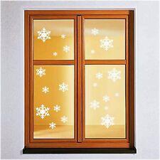 22x Schneeflocke Wandtattoo Winter Weihnachten Deko Aufkleber Fenstertattoo