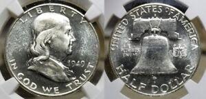 1949 S Franklin Half Dollar 50c NGC MS 64 PL CAC - RARE Proof Like !!