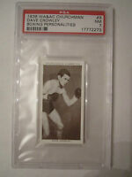 1938 DAVE CROWLEY BOXING CHURCHMAN PSA GRADED 7 NEAR MINT CARD