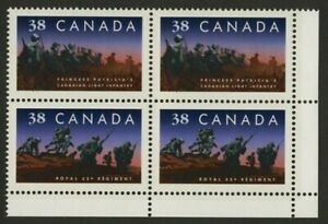 Canada 1250a BR Block MNH Infantry Regiments, Military