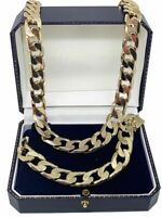 Mens women's boys kids 18ct Gold Filled Curb Chain Necklace range solid heavy