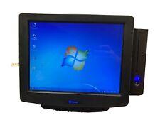 Posiflex Cerner Ceck 1501 Touchscreen Pos Terminal & Sd-700 Magnetic Card Reader