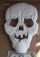 VTG Halloween Ceramic Bisque Skeleton Skull Hanging Head Reversible You Paint