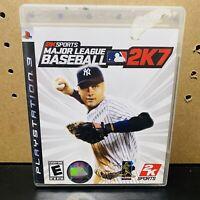 Major League Baseball MLB 2K7 (Sony PlayStation 3, PS3)Tested CIB W/ Manual