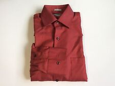 Van Heusen Fitted Pique Sateen Shirt Point-Collar Tabasco Sz.14 1/2 32/33  #51
