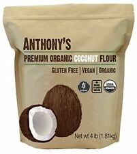 Organic Coconut Flour (4 Lb) By Anthony's, Certified Gluten-Free, Non-GMO