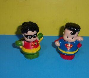 Little People DC comics Superman and Batman's Robin Mattel Play Figures