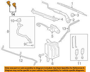 Chevrolet GM OEM Captiva Sport Windshield Wiper Washer-Nozzle Spray Jet 96673371