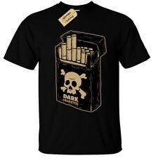 Cigarrillos Camiseta Oscuro para Hombre Calavera Punk Gótico veneno fumar Rock Emo