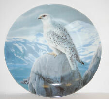 """""""The White Gyrfalcon"""" 1989 The Majestic Birds Collectors Plate by Daniel Smith"""