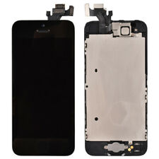 LCD Screen Touch Digitizer Home Button Front Camera Frame for iPhone 5 Black