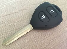 For TOYOTA YARIS AURIS 2 Button Remote Key Fob Case Shell with blade TOY47