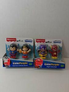Fisher-Price Little People DC Super Friends Superman & Wonder Woman flash & bat