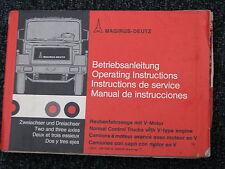 Magirus-Deutz Betriebsanleitung Haubenfahrzeuge mit V-Motor (D/GB/F/ES) 1975