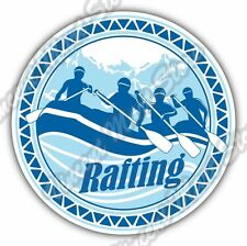 "Rafting  River Raft Mountain Whitewater Fun Car Bumper Vinyl Sticker Decal 4.6"""