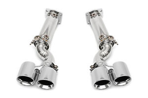 Fabspeed 997 Turbo Muffler Bypass Exhaust System w/ Cat Bypass Polished