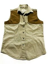 BROWNING Womens Outdoors Hunting Sleeveless Shirt Khaki Size M