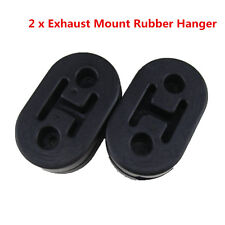 2pcs Black Car Exhaust Mount Repair Hanger Bracket Heavy Duty Rubber Replacement