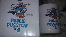 Vintage Papel Heathcliff Public Pussycat #1 Coffee Cup Mug