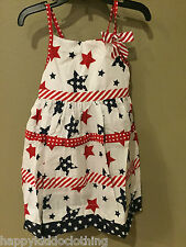Dress size 2 2t 4th of July Patriotic Red white blue new 44.95 Jessica Ann dup