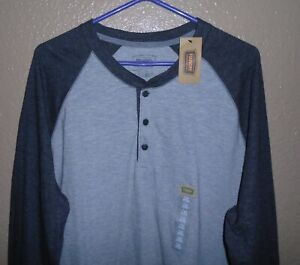 The Foundry Supply Co Men's  Henley Long Sleeve Gray Heather  Men's Size XLT NWT