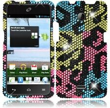 Huawei H881C ACE Crystal Diamond BLING Hard Case Phone Cover Colorful Leopard