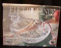 "Fifth Avenue LTD 6"" Crystal Ornament Dish NEW in Box - Candy Dish, Ashtray, Etc"