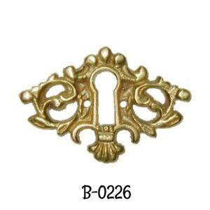 Keyhole Cover Antique Victorian Cast Brass Key Hole Cover Vintage Escutcheon