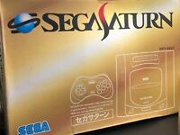 Sega Saturn HST-3200 Gray Console w/BOX from japan
