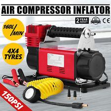 DC12V Druckluft Verdichter Luftkompressor 4x4Gummireifen-Pumpe 160 Liter Kessel