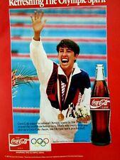 "Janet Evans The Olympic Spirit 1992 Classic Coke Original Print Ad 8.5 x 11"""