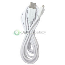 10FT White Micro USB Battery Charger Cable for Samsung Rugby 4/LG G4/HTC One M9