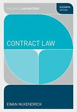 Contract Law (Palgrave Law Masters) by E McKendrick 11th edition paperback NEW