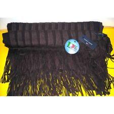 Sciarpa Tommy Jeans colore marrone doppia apertura coprispalle con frange - Made