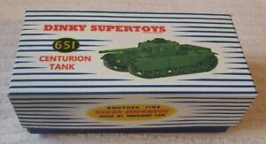 DINKY MILITARY MODEL BOX  * MILITARY CENTURION TANK - BOX ONLY * No 651 - CODE 3