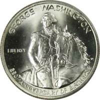 George Washington Commemorative 1982 D 90% Silver Half Dollar BU 50c Coin