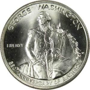 George Washington Commemorative 1982 D 90% Silver Half Dollar BU 50c Coin
