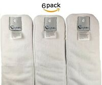 Diapers Cloth Inserts, Large (6 Count) New Item White   FAST SHIP!!!